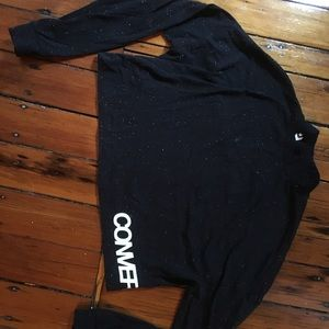 Never worn black, converse turtleneck